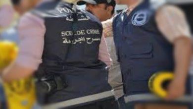 صورة عناصر القسم الجنائي بأسفي تلقي القبض على مرتكب جريمة القتل بحي الجريفات