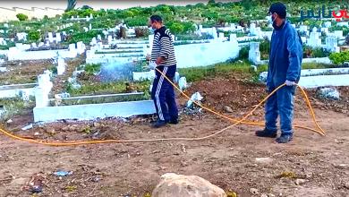 """صورة بالفيديو: حملة لتنظيف مقابر مدينة آسفي..و""""سعدية عاطف"""" تكشف عن الإكراهات"""